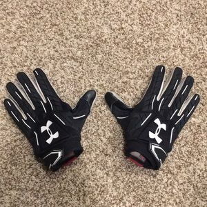 Under Armor Football Gloves and Chinstrap Cover